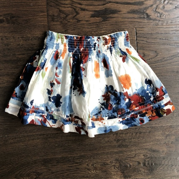Abercrombie & Fitch Floral High Rise Mini Skirt